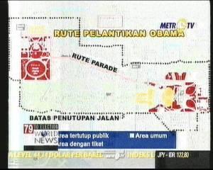 Foto jepretan penulis langsung ke TV